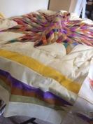 A modern variation of a Lonestar Quilt